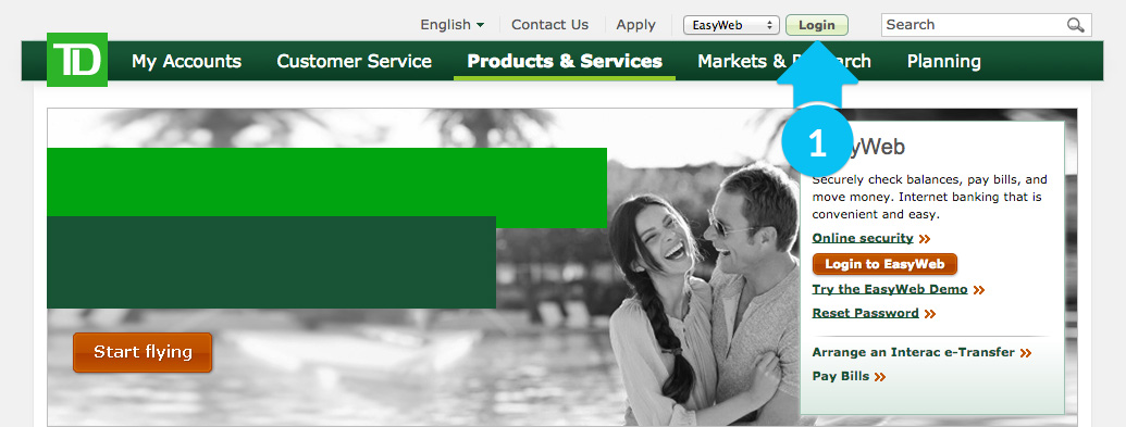 How to Log into TD Canada Trsut online